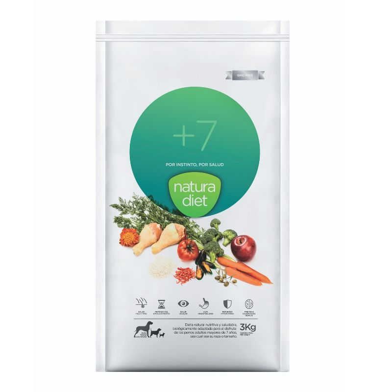 natura diet +7 pienso natural perros senior