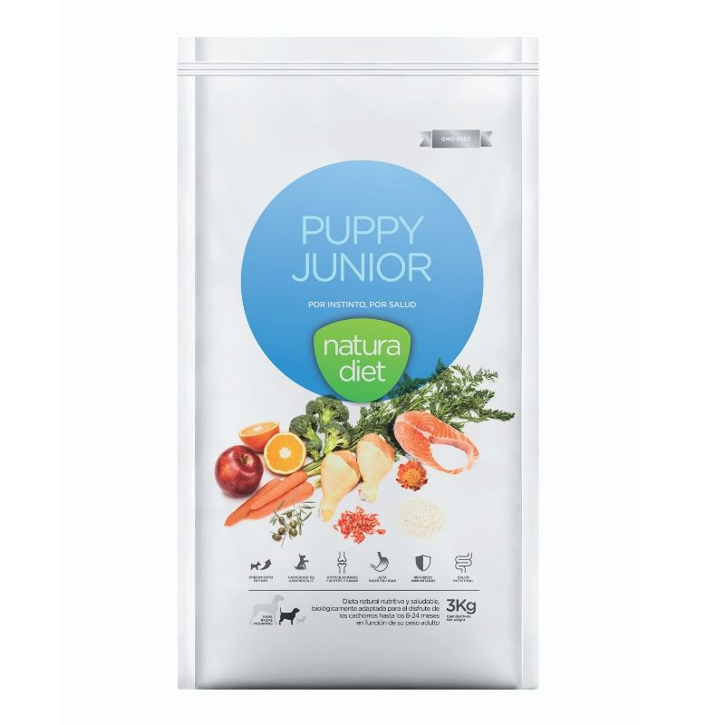 natura diet puppy junior alimento natural para cachorros