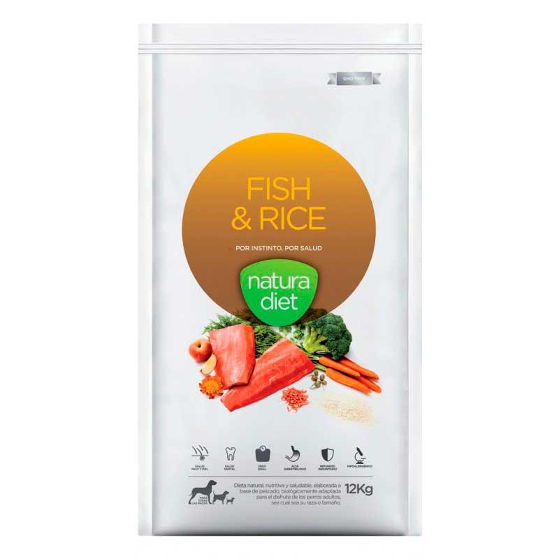 natura diet fish pienso natural perros salmón