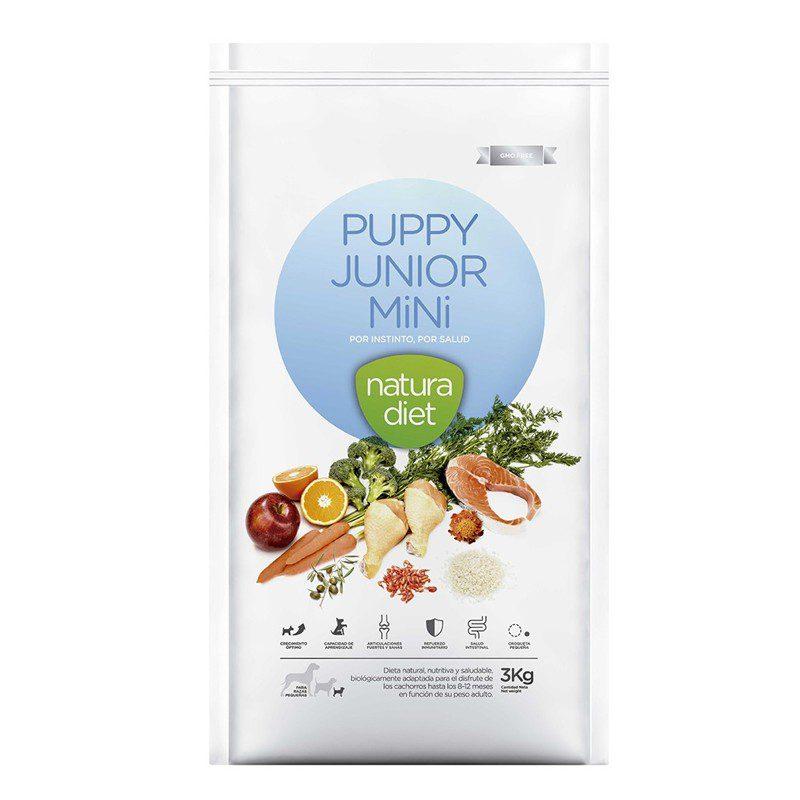natura diet puppy junior mini alimento natural cachorros razas pequeñas