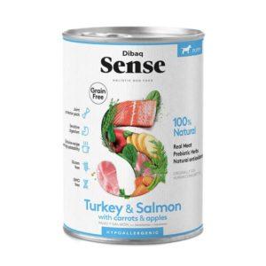 dibaq sense puppy lata salmon y pavo